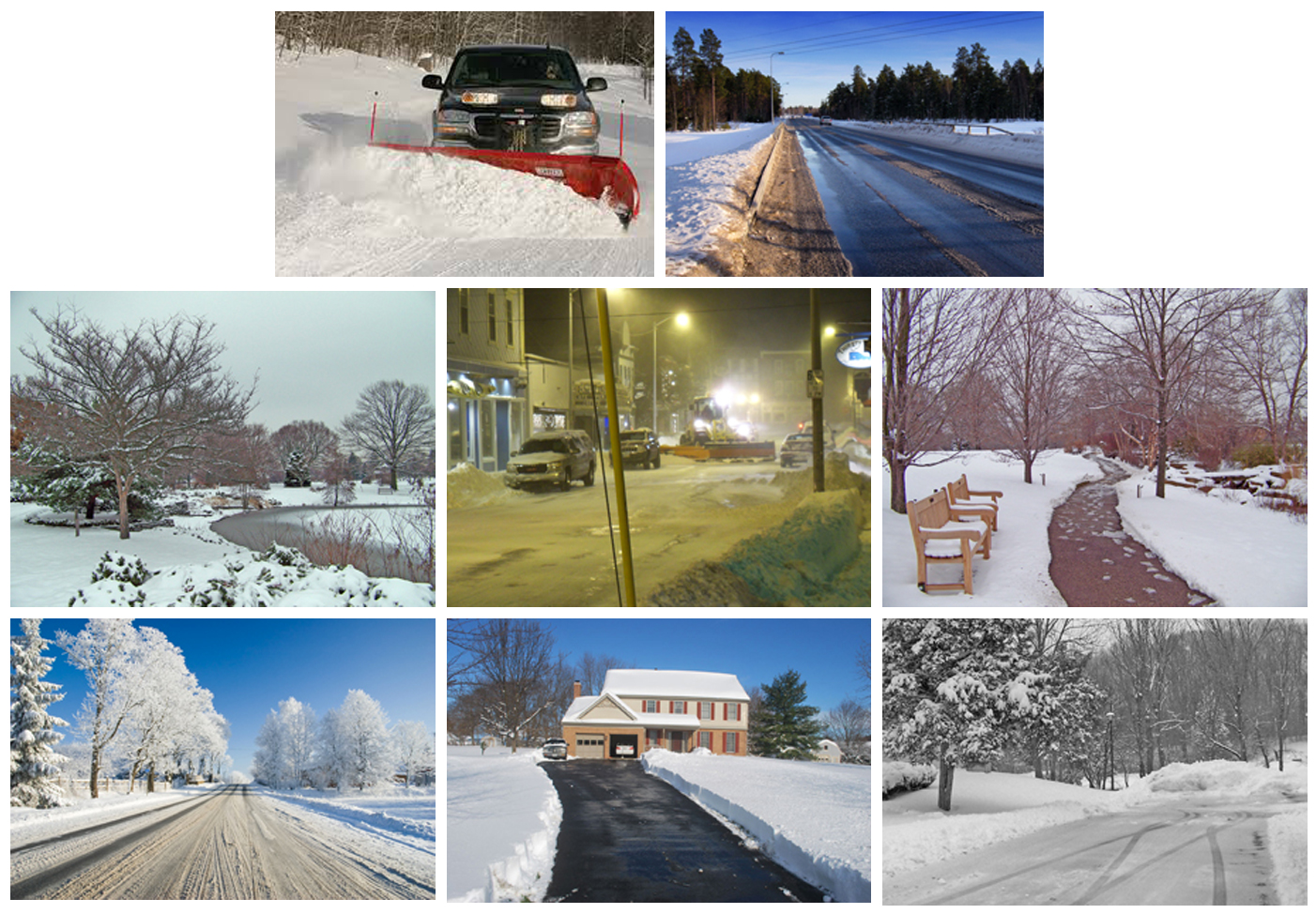 snow removal plowing photo gallery